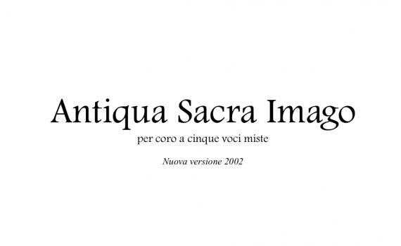Copertina - Antiqua Sacra Imago